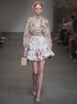 ZIMMERMANN Mischief floral-print silk-organza blouse ~ luxe ~ luxury ~ blouses ~ summer fashion ~ ruffled ~ feminine ruffles