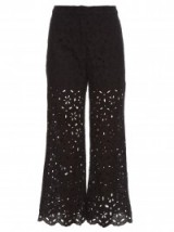 ZIMMERMANN Pavilion broderie-anglaise cropped trousers ~ luxe pants ~ luxury style ~ feminine ~ holiday ~ summer ~ chic