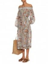 ZIMMERMANN Pavilion off-the-shoulder smock dress ~ luxe ~ luxury ~ floral ~ holiday ~ summer ~ feminine