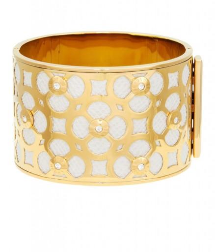 HENRI BENDEL – PETAL CUTOUT WIDE BANDLE. Bangles | jewelry | fashion jewellery | cuffs | bracelets