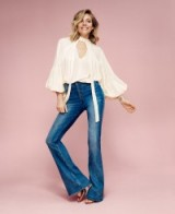 Sienna Miller for the Lindex Spring 2016 collection ~ stylish women ~ actresses with style ~ boho look ~ flared jeans ~ flowy blouses