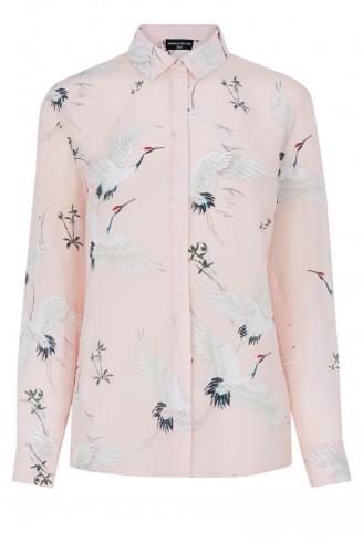 Bird Print Silk Blouse 16