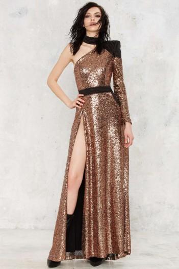 Zhivago Okrhana Sequin Dress. Gold party dresses – sequined ...