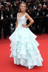 Blake Lively at Cannes in Vivienne Westwood