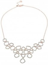 Monica Vinader Riva Diamond Cluster Bib Necklace – as worn by Catherine Duchess of Cambridge, with a matching pair of Riva diamond cluster drop earrings and a nude pink Alexander McQueen dress, during a visit to the National Portrait Gallery, 4 May 2016. Kate Middleton style   celebrity fashion   Kate Middleton's dresses   royal outfits   jewellery   necklaces