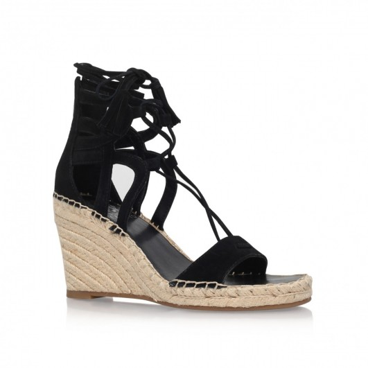 Black sandals holiday - Vince Camuto Tannon Black Wedge Sandals Summer Shoes Holiday Wedges Espadrille Wedges