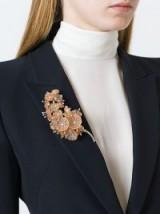 ALEXANDER MCQUEEN floral brooch – flower brooches – designer fashion jewellery