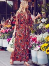free people All in a Daze Kimono spice – long summer dresses – boho style – maxi – holiday fashion – floral prints – festival style
