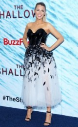 Stunning Blake Lively in a black and white Carolina Herrera dress ~ women with style ~ celebrity dresses