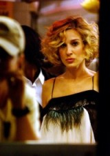 Carrie Bradshaw style ~ short wavy bob ~ glamour ~ Carrie Bradshaw's hair & make up