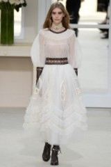 Chanel Ready to Wear F/W 2016 at PFW – designer fashion – autumn trends – sheer white dresses – romantic style clothing