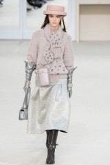 Chanel Ready to Wear F/W 2016 PFW – metallic fashion – luxury knits – silver skirts – pink tones – runway accessories – catwalk models – designer outfits – luxe clothing
