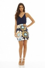 AX Paris 2 IN 1 SUNFLOWER PRINT DRESS NAVY – summer dresses – flower prints – sleeveless – Billie Faiers style