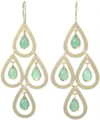 IRENE NEUWIRTH Gemstone Chandelier Earrings / drop earrings / luxe jewelry - flipped