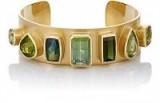 IRENE NEUWIRTH Gemstone Cuff / green gemstones / cuffs / jewelry / toumaline bracelets