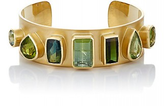 IRENE NEUWIRTH Gemstone Cuff / green gemstones / cuffs / jewelry / toumaline bracelets