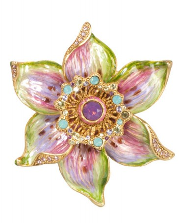Jay Strongwater Sonia Daffodil Pin – floral jewelry – flower brooches – crystal jewellery – multicolored