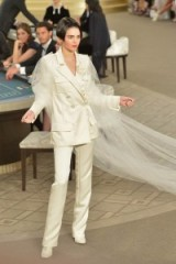Kendall Jenner for Chanel at Paris Fashion Week Haute Couture F/W 2015-16 – runway fashion – models at work – designer trouser suits – luxury clothing – chic style