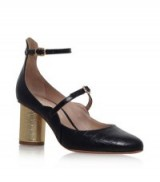 Kurt Geiger Maggie Court Shoe black – Ankle strap Mary Janes – block heel Mary Jane shoes – chic style footwear
