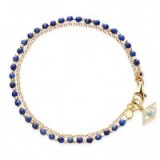 LAPIS EVIL EYE BIOGRAPHY BRACELET ~ lapis lazuli gemstones ~ blue bracelets ~ gemstone jewellery