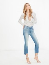 MOTHER Insider Crop Step Fray Shake Well / skinny jeans / cropped pants