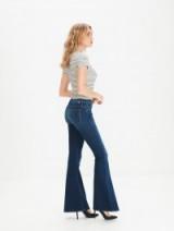 MOTHER Super Cruiser Power Play / indigo flared jeans / denim flares / 70's glam / retro look fashion