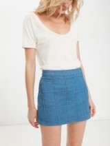 MOTHER The School's Out Skirt Party Hardy / denim mini skirts / fashion / keep it casual