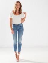 The Stunner Ankle Fray Graffiti Girl / vintage inspired jeans / distressed denim / cropped / frayed fashion / keep it casual / skinny