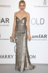 Sienna Miller style ~ celebrity glamour ~ actresses ~ metallic gowns ~ women with style