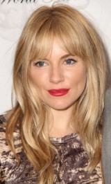 Sienna Miller hair & beauty ~ red lips ~ celebrity hairstyles ~ make up