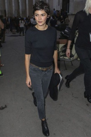 French Actress Audrey Tautou Casual Street Style