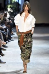 Alexandre Vauthier Haute Couture F/W 2016 at Paris Fashion Week – runway fashion – casual chic – embellished camo print trousers – designer ivory blouses – catwalk outfits – winter trends