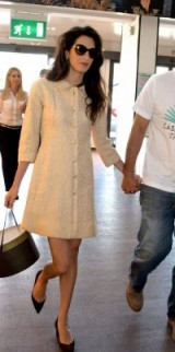Amal chic outfit ~ statement fashion ~ stylish outfits ~ celebrity travel style
