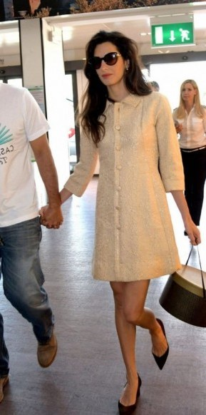 Amal chic outfit ~ statement fashion ~ stylish outfits ~ celebrity travel style - flipped