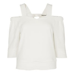 Whistles ~ Anais Off The Shoulder Top ivory. Open shoulder tops | summer blouses | feminine style | holiday fashion