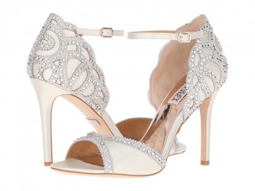 Badgley Mischka Roxy Ankle Strap Pump Wedding Shoes Bridal Accessories Rhinestone Embellished High