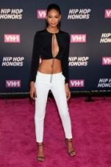 Chanel Iman monochrome outfit