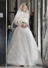 Nicky Hilton dressed in Valentino for her marriage to James Rothschild – celebrity wedding gowns – weddings
