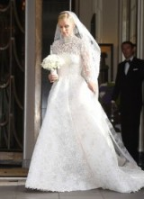 Nicky Hilton's stunning white lace Valentino wedding gown, worn for her marriage to James Rothschild, July 2015 – wedding dresses – celebrity bridal gowns