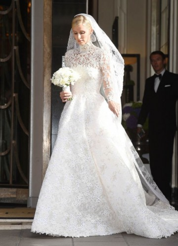 Nicky Hiltons Stunning White Lace Valentino Wedding Gown W