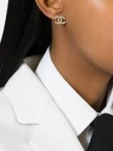 CHANEL VINTAGE logo earrings / luxe accessories / designer fashion jewelry / jewellery envy