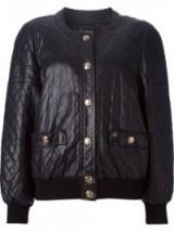 CHANEL VINTAGE quilted bomber jacket / 80s fashion / 1980s designer jackets