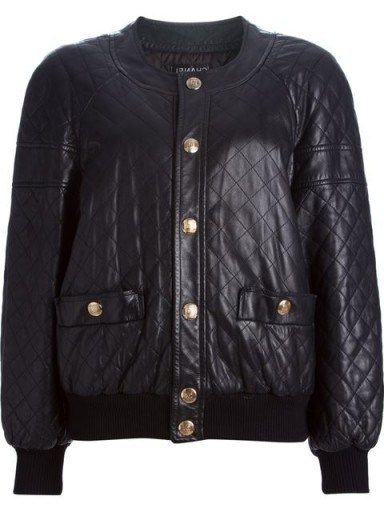 CHANEL VINTAGE quilted bomber jacket / 80s fashion / 1980s designer jackets - flipped