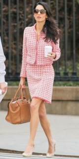 Amal ~ fashion ~ style ~ pink suit