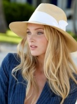 Model Elsa Hosk…beautiful long blonde hair. Models in hats | celebrity hairstyles | natural make up and beauty