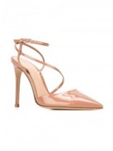 GIANVITO ROSSI Praline patent leather pumps, strappy high heels, pointed toe, luxe style shoes, dreamy ankle straps, elegant & feminine
