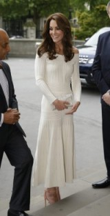 Catherine Duchess of Cambridge elegant in a white Barbara Casasola off the shoulder dress, while attending a dinner at the Natural History Museum in London, July 2016 ~ Kate Middleton style ~ royal dresses ~ outfits