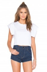 KENDALL + KYLIE FLUTTER SLEEVE TOP bright white. Casual tops   jersey knit tees   weekend fashion
