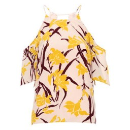 Whistles ~ Lilly Print Cold Shoulder Top. Summer tops   floral prints ~ flower printed holiday fashion