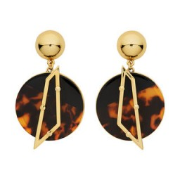 Lulu Frost Tort Circle Earring. Round drop earrings | fashion jewellery | faux tortoiseshell | resin tortoise shell | accessories